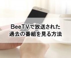 BeeTVで放送された過去の番組を見る方法